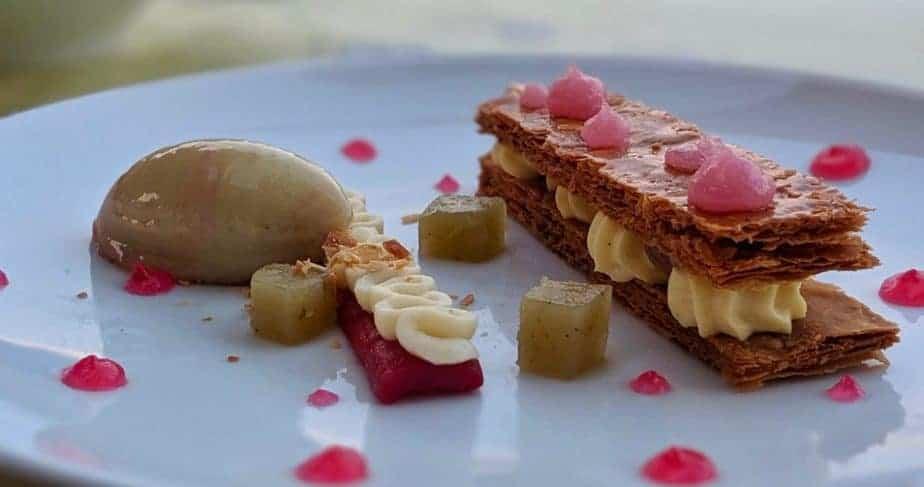 Dessert dish from Le Bistrot du Gabriel, Bordeaux.