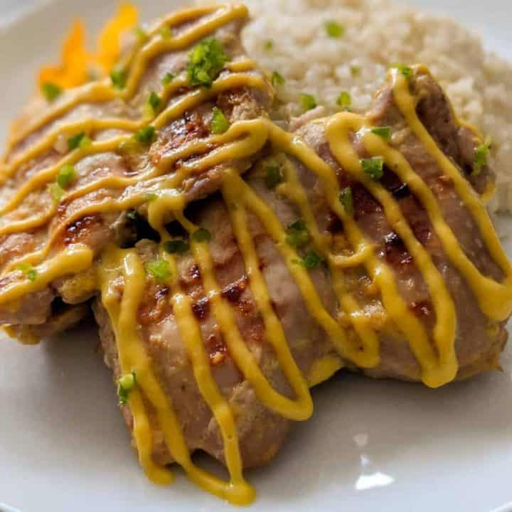 Close up of mango lime chicken